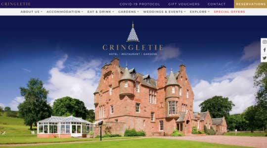 Cringletie Hotel & Gardens Website